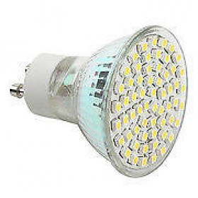 LAMPADA 60 LED SMD ATTACCO GU10 LUCE CALDA/FREDDA