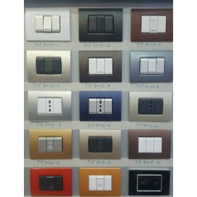 PLACCA PLACCHE PLACCHETTE COMPATIBILI LIVING LIGHT IN ABS 3 4 7 POSTI COLORI