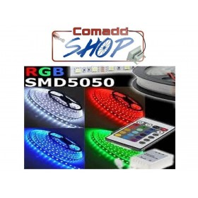 BOBINA RGB STRISCIA LED 300 LED MULTICOLORE 5 METRI