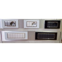 PLACCHETTE VETRO/METALLO SERIE LIVING INTERNATIONAL COMPATIBILI BTicino