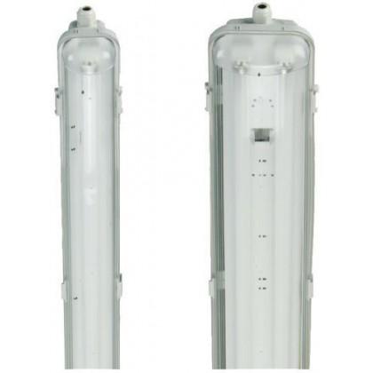 PLAFONIERA STAGNA completa DI NEON LED TUBO T8 60-120-150 CM 220V SOFFITTO IP65