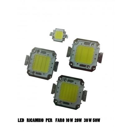 RICAMBIO LED PER FARO ESTERNO LUCE FREDDA 10W 20W 30W 50W 80W 100W 120W