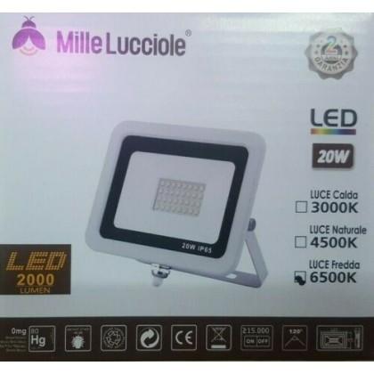 FARO LED ULTRASLIM PROIETTORE LED ESTERNO ip65 LUCE 10 20 30 50 100 watt OFFERTA