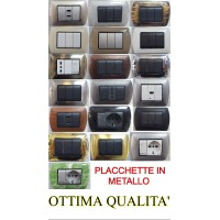 PLACCHETTE IN METALLO PER SERIE LIVING INTERNATIONAL COMPATIBILI BTICINO
